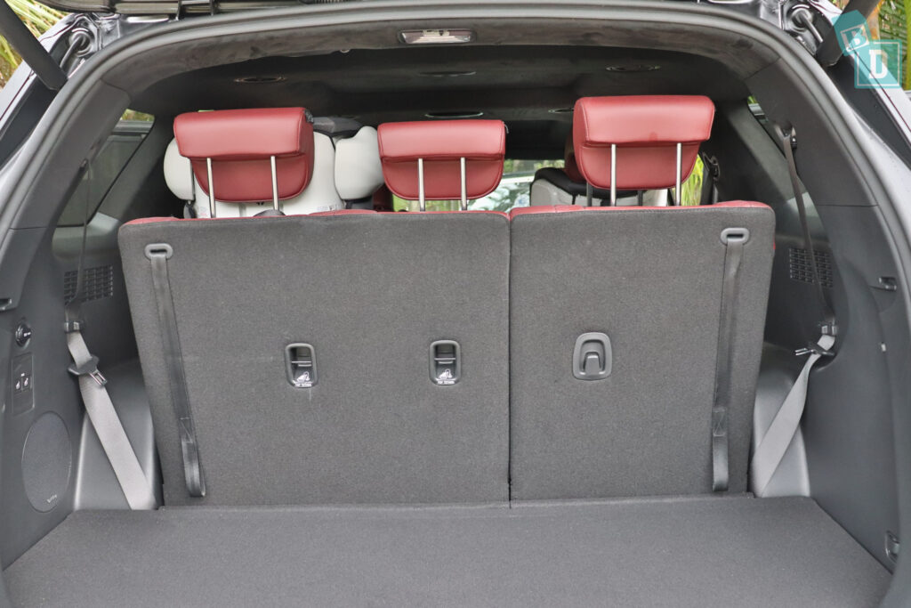 2021 Hyundai Palisade Highlander child seat top tether anchorages in row 3