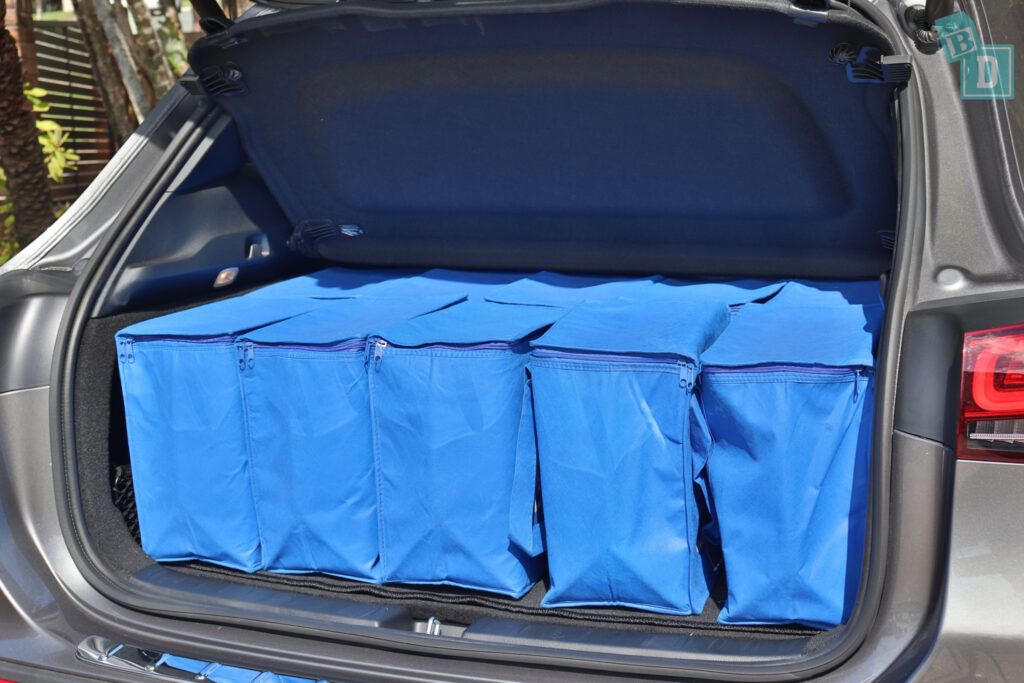 2021 Mercedes-Benz GLA 250 boot space with shopping