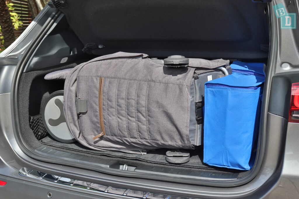 2021 Mercedes-Benz GLA 250 boot space with tandem stroller pram and shopping