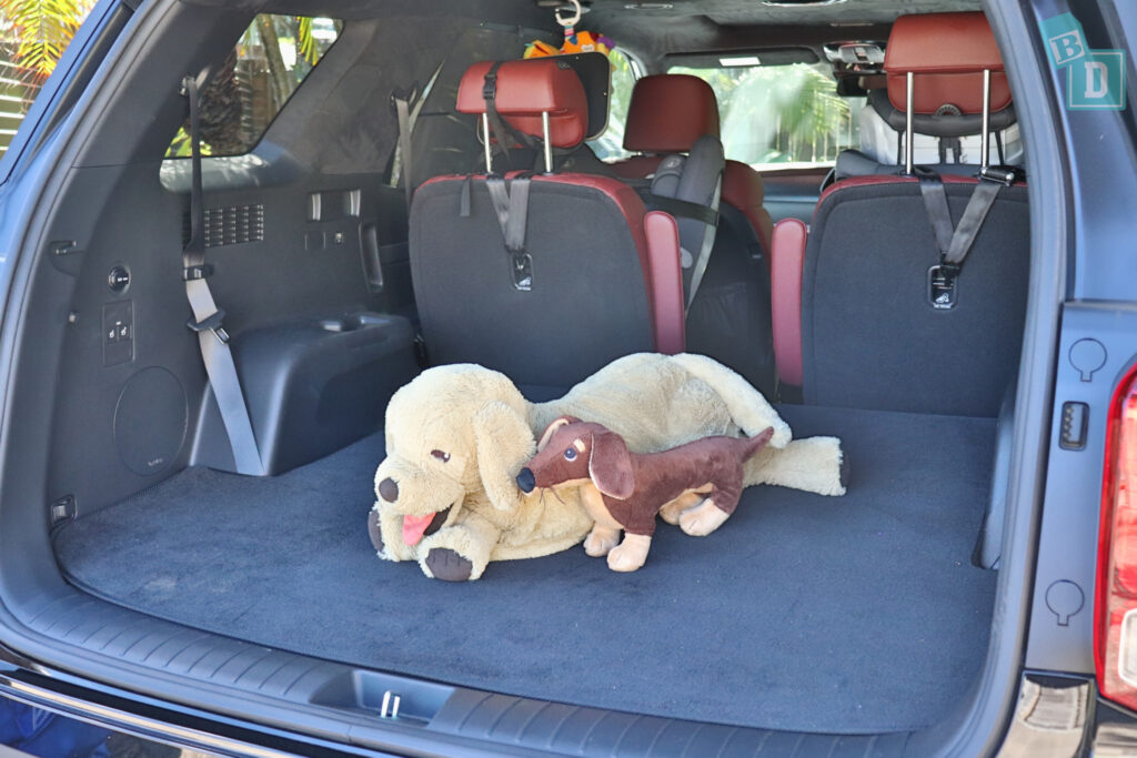 2021 Hyundai Palisade Highlander space for dogs in boot