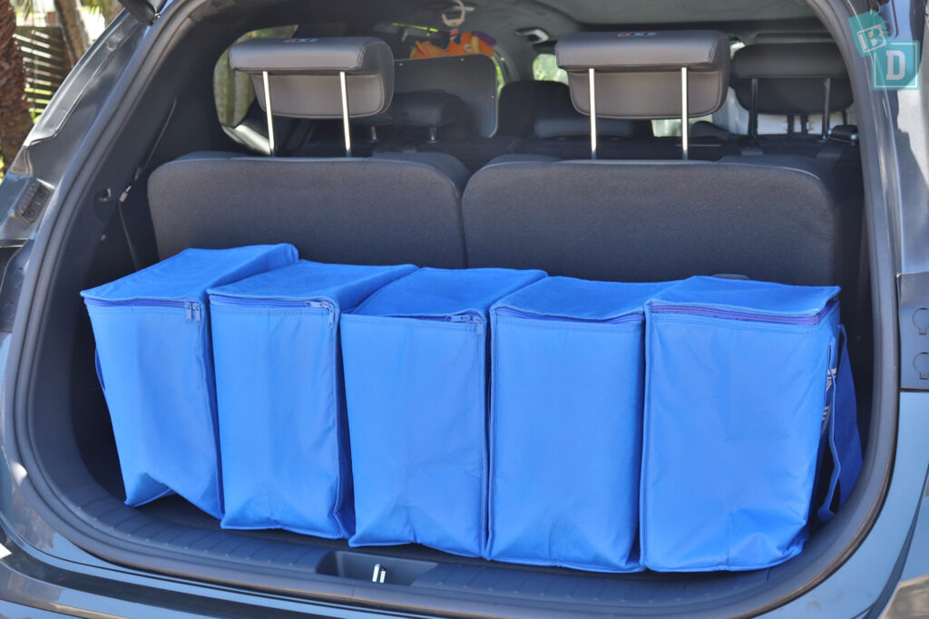 2021 Hyundai Santa Fe Highlander boot space for shopping with all three rows in use