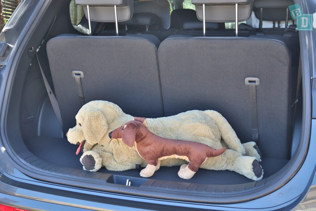 2021 Hyundai Santa Fe Highlander boot space for dogs with all three rows in use