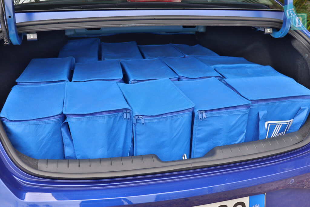 2021 Hyundai i30 boot space for shopping with two rows of seats in use