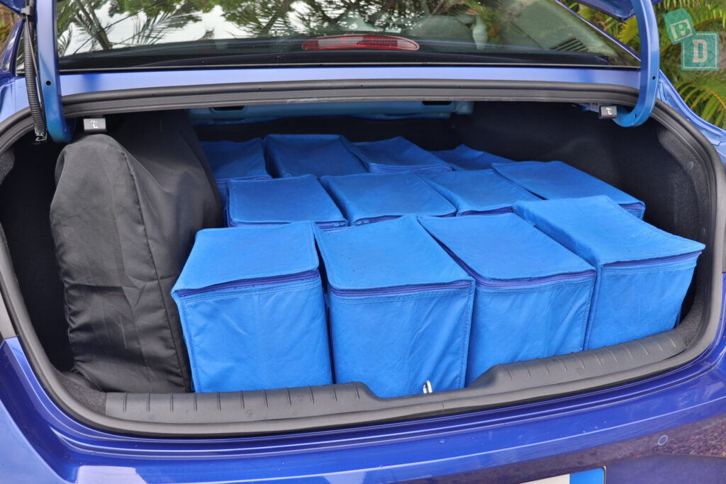 2021 Hyundai i30 boot space for shopping with compact pram if two rows of seats are in use