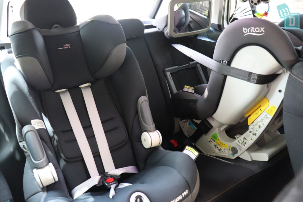 2021 Skoda Kamiq 85 TSI with two child seats installed in the second row