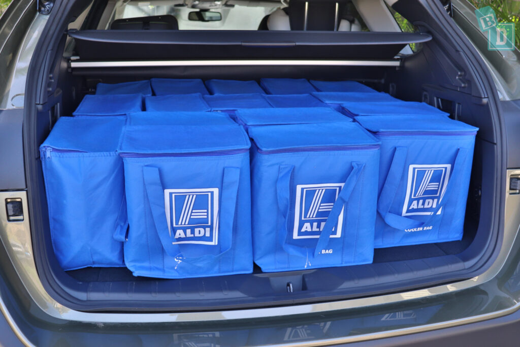 2021 Subaru Outback boot space for shopping with two rows of seats in use
