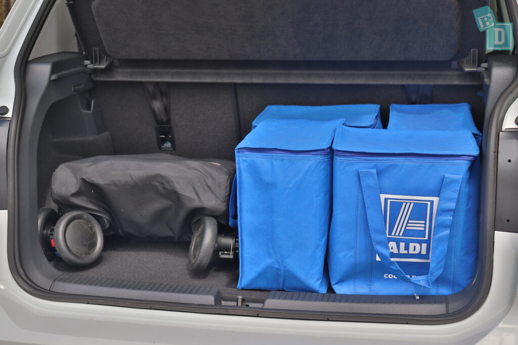 2021 Volkswagen T-Cross 85 TSI Life boot space for shopping with compact pram if two rows of seats are in use