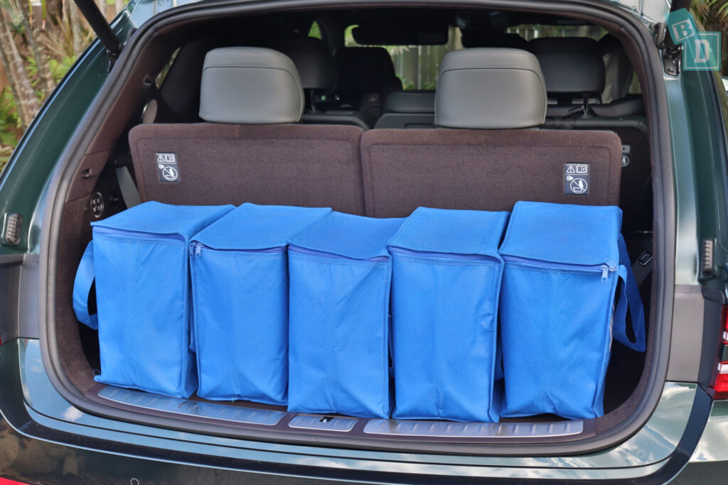 2021 Genesis GV80 boot space for shopping with all three rows in use