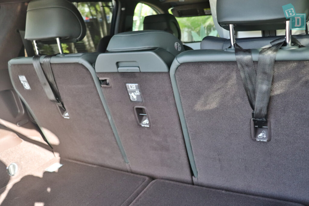 2021 Genesis GV80 top tether child seat anchorages in the second row