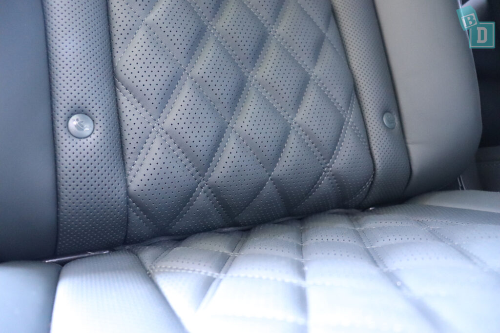 2021 Genesis GV80 ISOFIX child seat anchorages in the second row