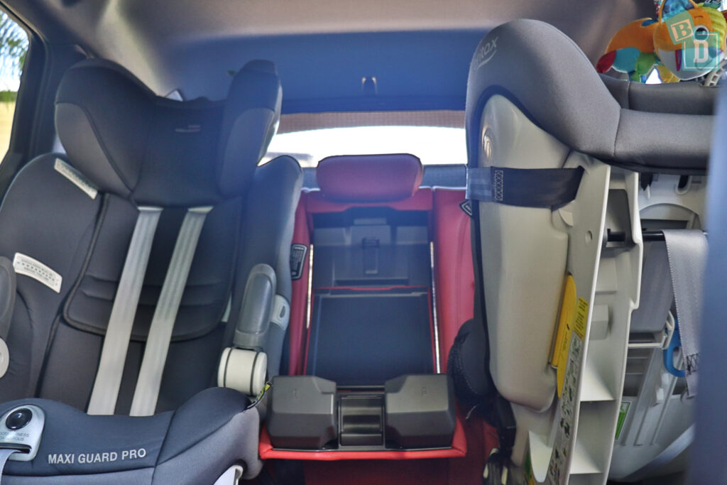 2021 Audi S4 Avant space between two child seats installed in the second row