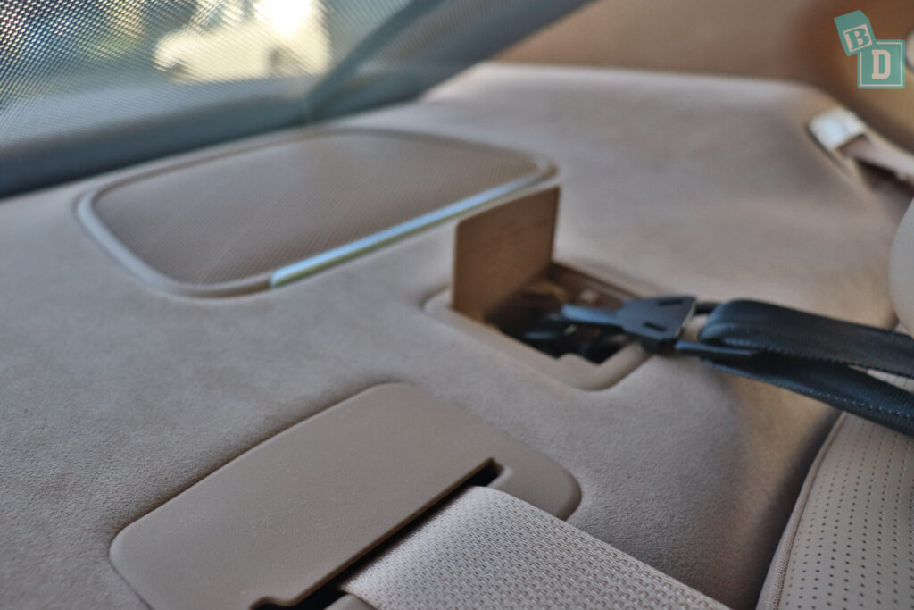 2021 Genesis G80 top tether child seat anchorages in the second row