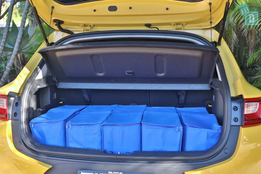 2021 Kia Stonic GT Line boot space for shopping with two rows of seats in use
