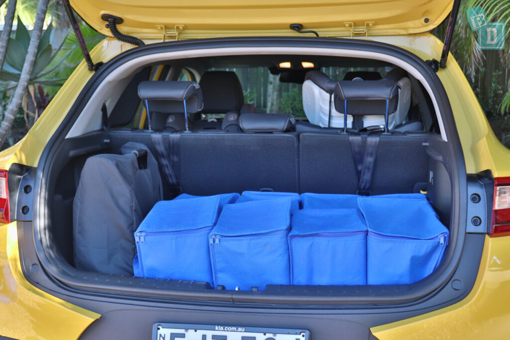 2021 Kia Stonic GT Line boot space for shopping with compact pram if two rows of seats are in use