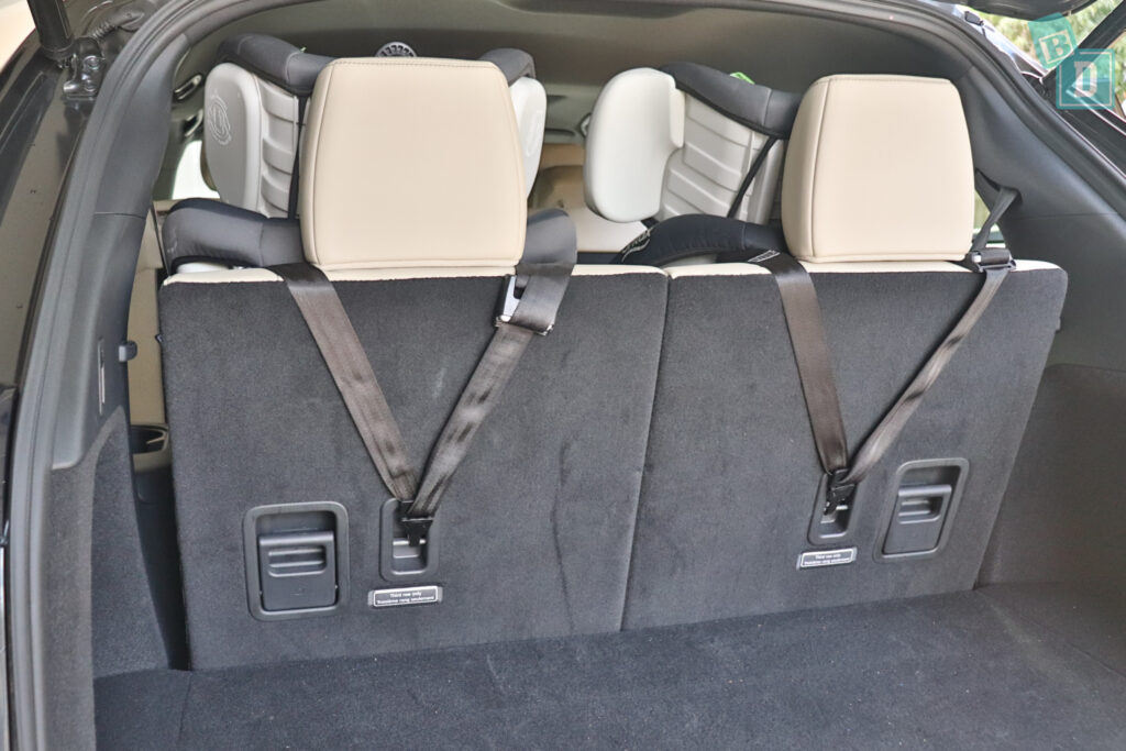 2021 Mazda CX-9 top tether child seat anchorages in the third row