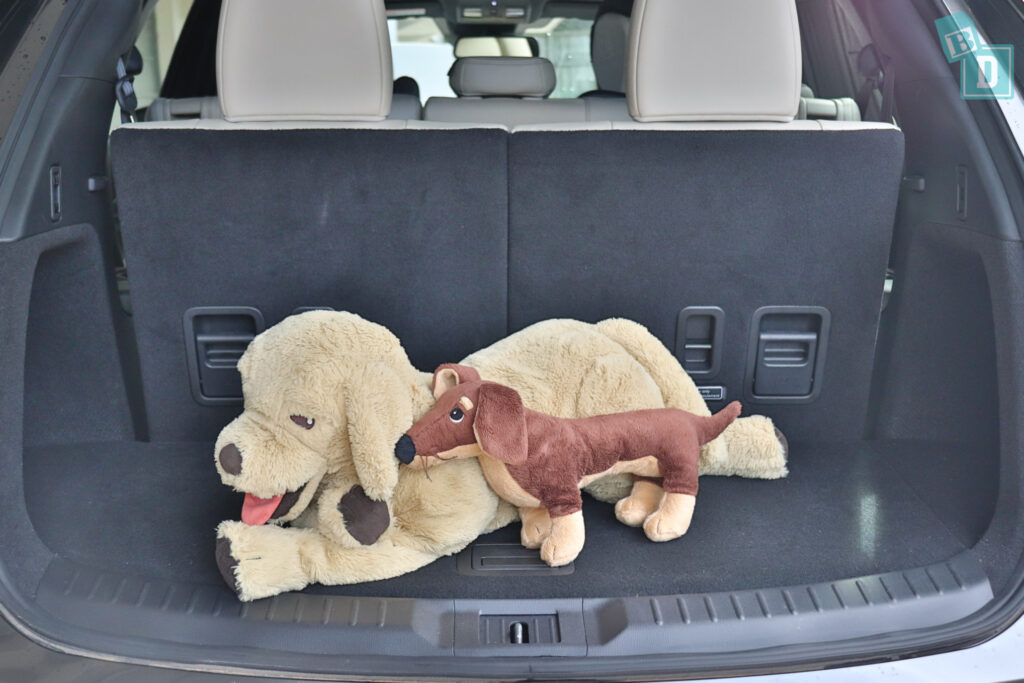 2021 Mazda CX-9 boot space for dogs with all three rows in use