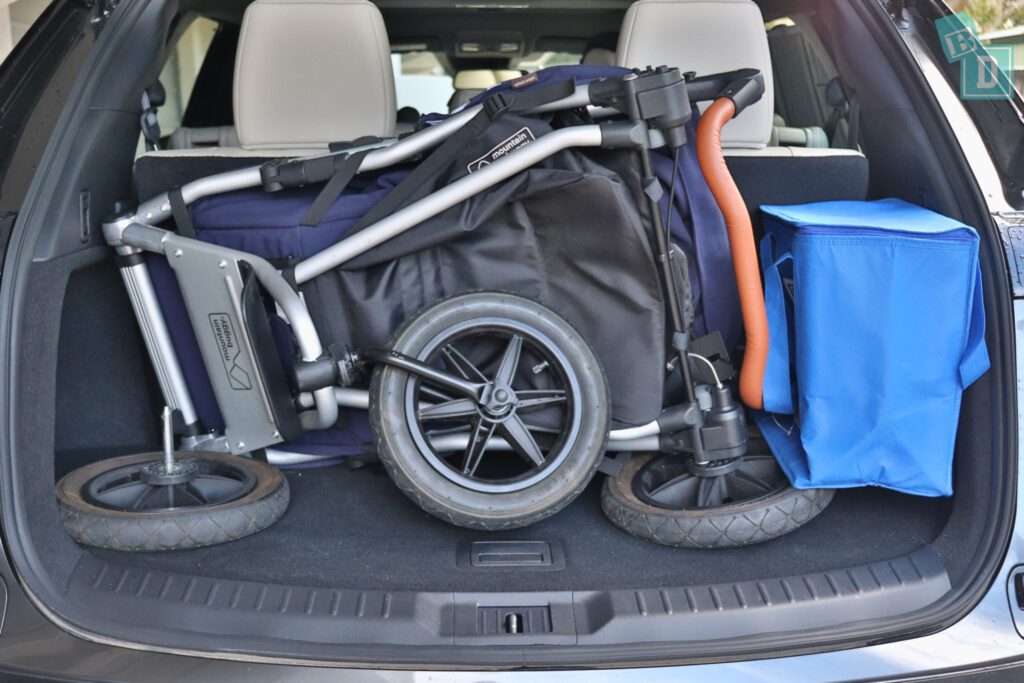 2021 Mazda CX-9 boot space for single stroller pram and shopping with all three rows in use