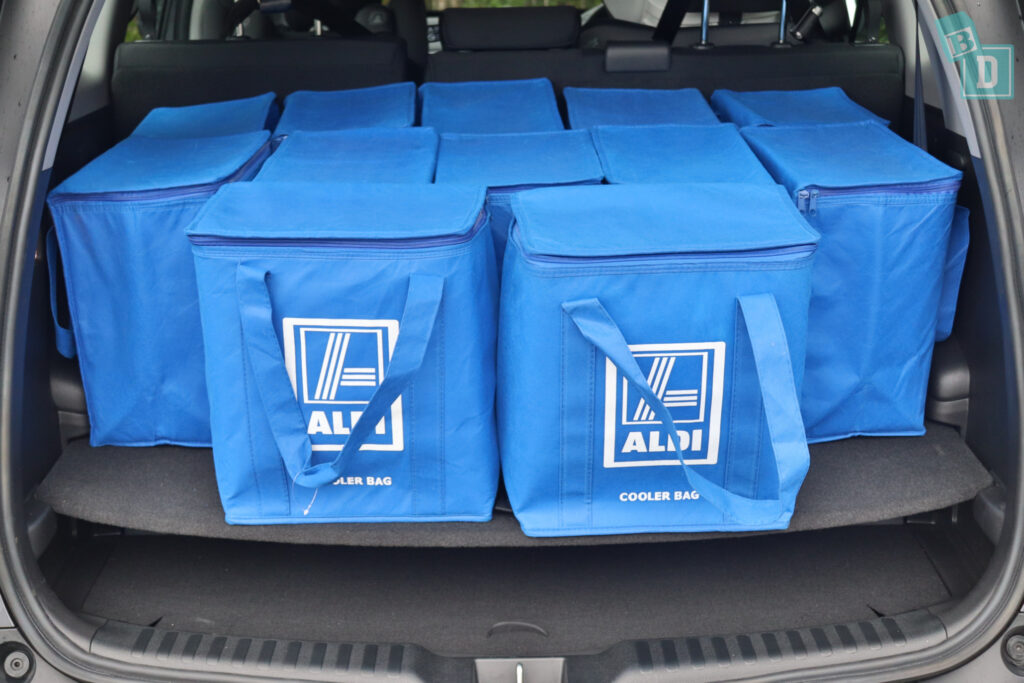 2021 HONDA CR-V boot space for shopping with two rows of seats in use