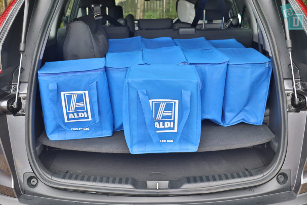 2021 HONDA CR-V boot space for shopping with compact pram if two rows of seats are in use