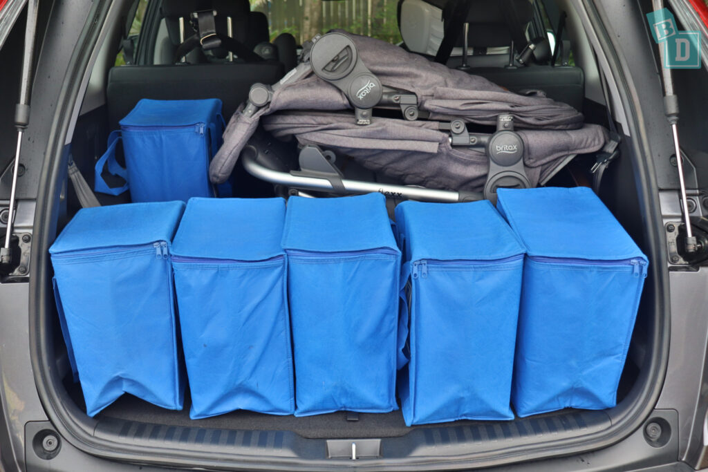 2021 HONDA CR-V boot space for shopping with tandem stroller pram if two rows of seats are in use