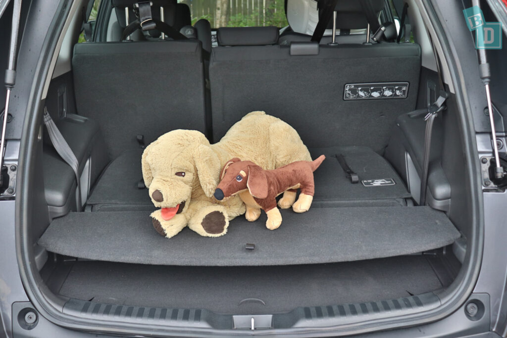 2021 Honda CR-V boot space for dogs with two rows of seats in use