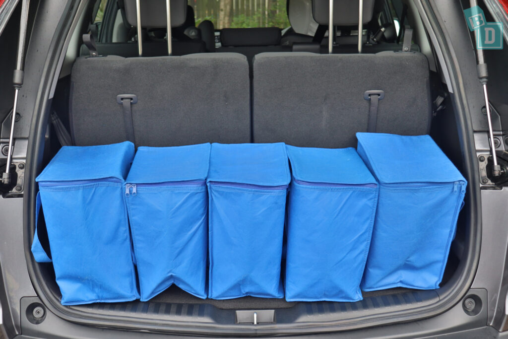 2021 Honda CR-V boot space for shopping with all three rows in use