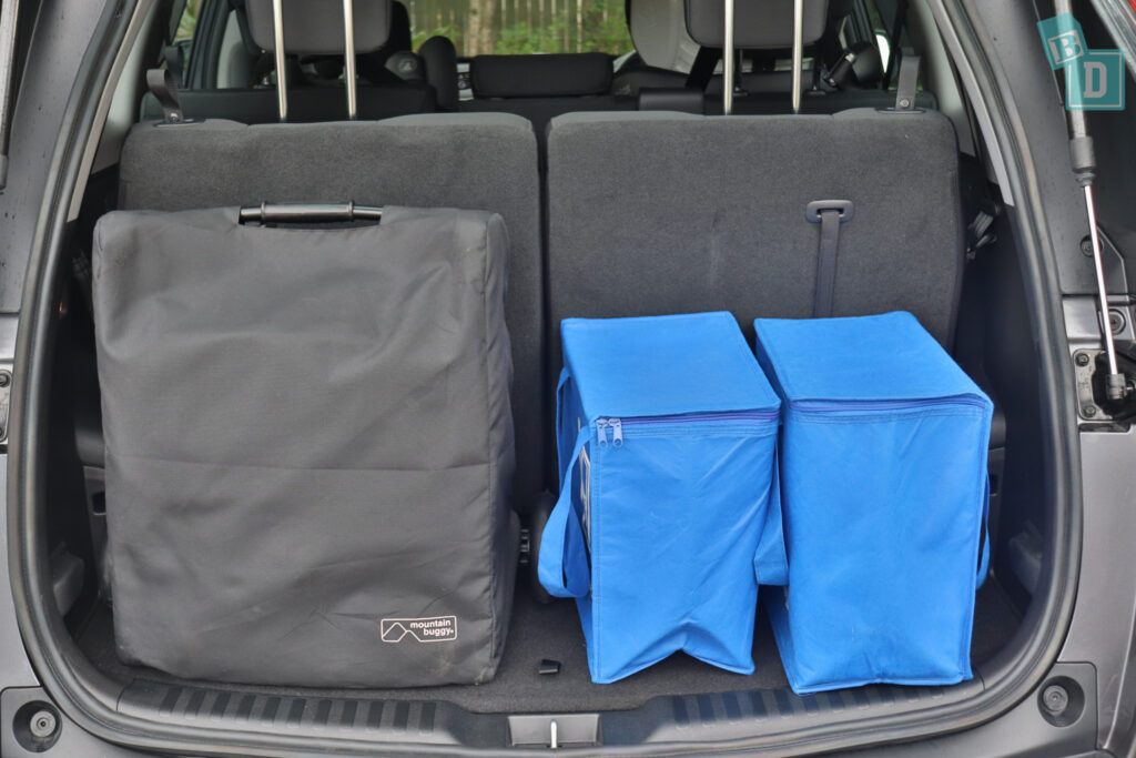 2021 Honda CR-V boot space for compact stroller pram and shopping with all three rows in use