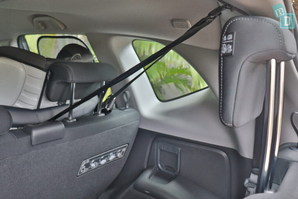 2021 Honda CR-V top tether child seat anchorages in the second row
