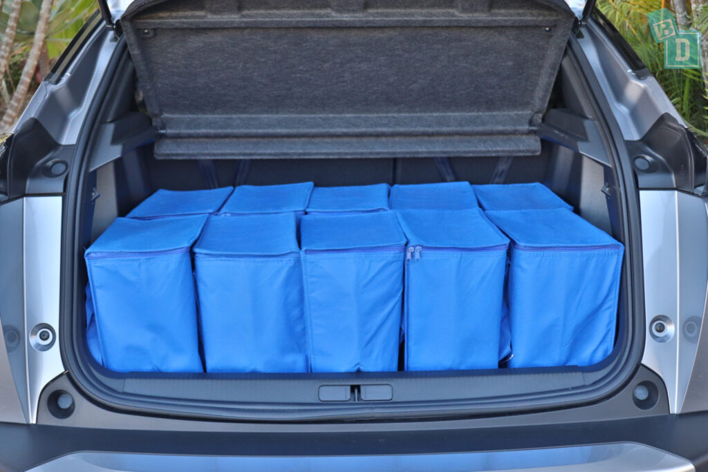 2021 Peugeot 2008 boot space for shopping with two rows of seats in use