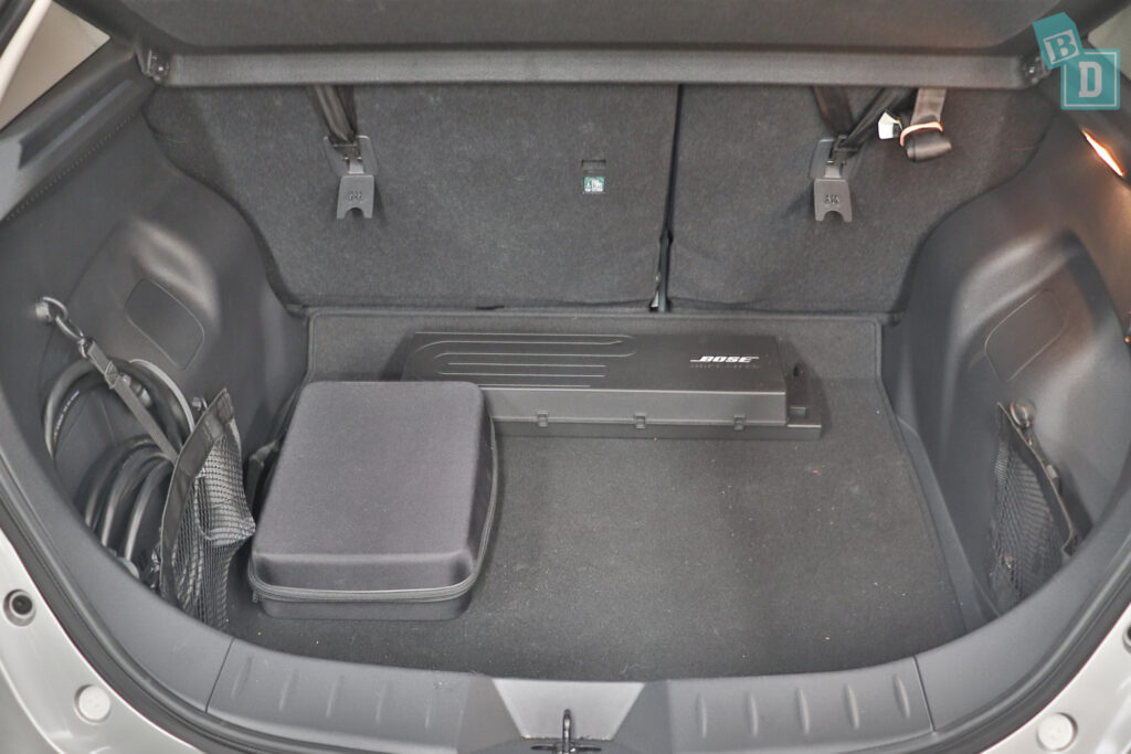 2021 Nissan Leaf e+ top tether child seat anchorages in the second row