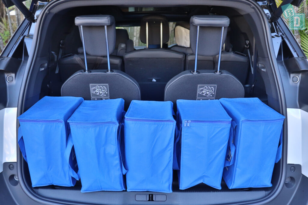 2021 Peugeot 5008 boot space for shopping with all three rows in use