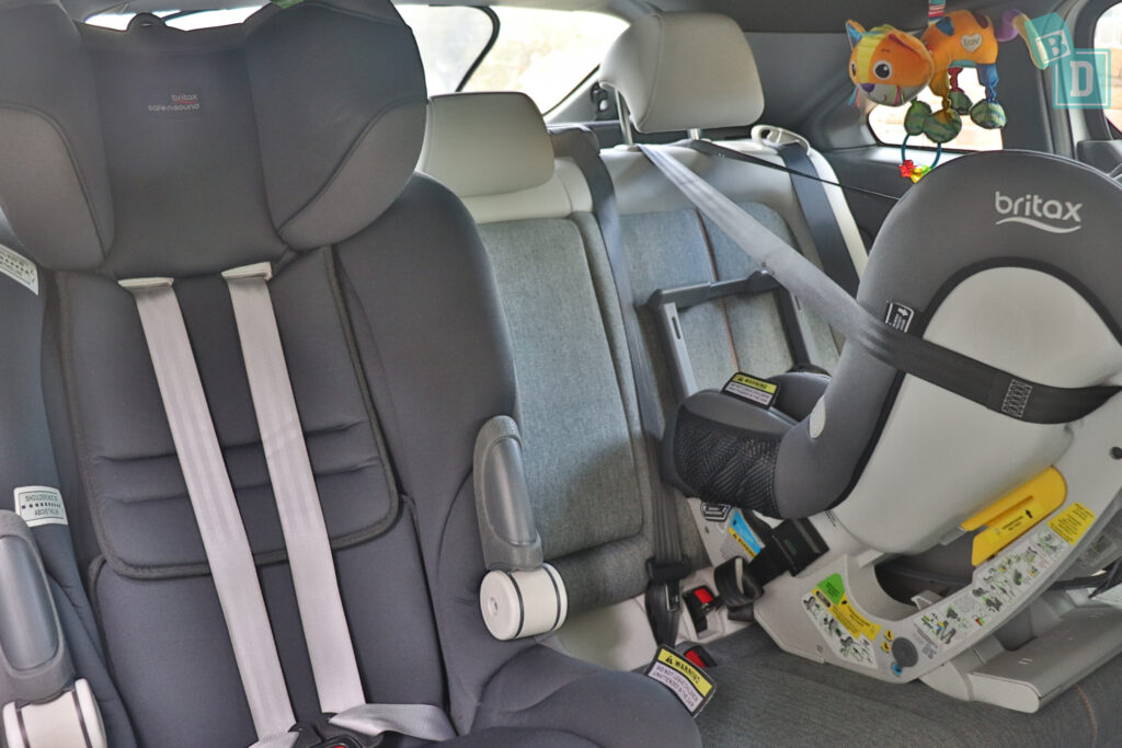 2021 Mazda MX-30 space between two child seats installed in the second row