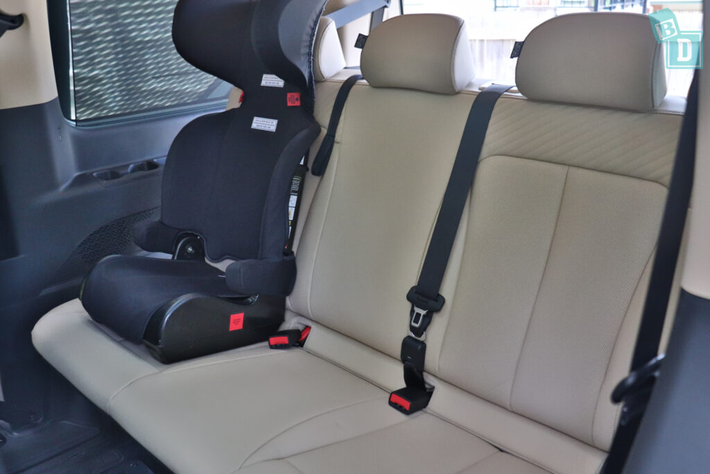 2022 Hyundai Staria Highlander with Infasecure versatile booster seat in third row