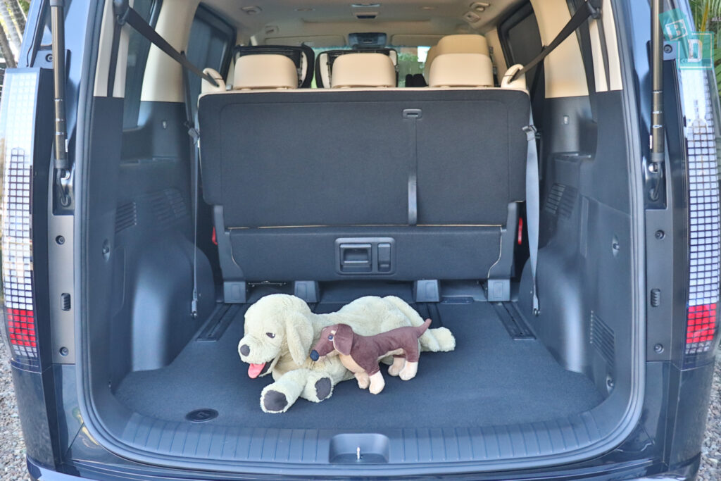 2022 Hyundai Staria Highlander with dog in boot