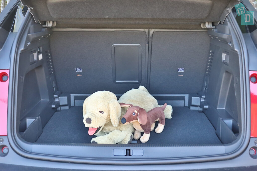 2021 Peugeot 3008 GT with dogs in the boot